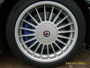 Alpina Classic Softline Felge in 8x17 ET 46 mit Michelin Pilot Sport Reifen in 225/45/17 montiert vorn Hier auf einem Alpina BMW E36 B3 3.2 (Coupe) Details zum Fahrzeug / Besitzer