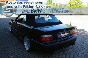 e36 m3b cabrio in cosmosschwarz metallic 303 3er bmw. Black Bedroom Furniture Sets. Home Design Ideas