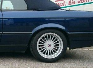 Alpina  Felge in 7x16 ET 28 mit Michelin Pilot Sport 3 Reifen in 205/50/16 montiert hinten Hier auf einem 3er BMW E30 318i (Cabrio) Details zum Fahrzeug / Besitzer