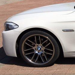 Keskin KT14 Black Front Polish Felge in 8.5x20 ET 30 mit Hankook Ventus S1 Evo2 K117 Reifen in 245/35/20 montiert vorn Hier auf einem 5er BMW F10 520d (Limousine) Details zum Fahrzeug / Besitzer