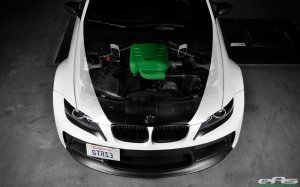 BMW-News-Blog: Das Monster in mattem Wei�: BMW M3 E92 mit Vorstei - BMW-Syndikat