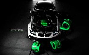 BMW-News-Blog: Das_Monster_in_mattem_Weiss__BMW_M3_E92_mit_Vorsteiner_GTRS5_Widebody-Kit___VIDEO_