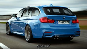 BMW-News-Blog: Power-Pampers-Bomber: BMW M3 Touring F81 (Renderin - BMW-Syndikat