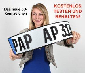 BMW-News-Blog: TESTEN und KOSTENLOS behalten: 3D-Kennzeichen f�r - BMW-Syndikat