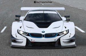 BMW-News-Blog: BMW i8 DTM-Rennfahrzeug: Rendering von rc82 workch - BMW-Syndikat