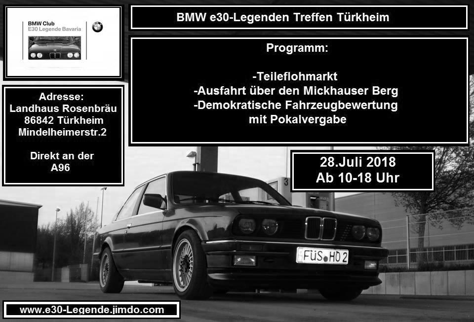 Bmw E30 Legenden Treffen 2018 2018 Alle Tuning Treffen Messen Und